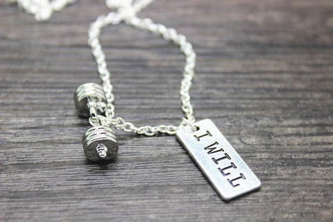 "Free ""I Will"" Barbell Necklace - Hot Selling Item"