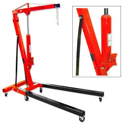 2 Ton Folding Cherry Picker Engine Lift  Hoist with Hydraulic Double Pump Jack