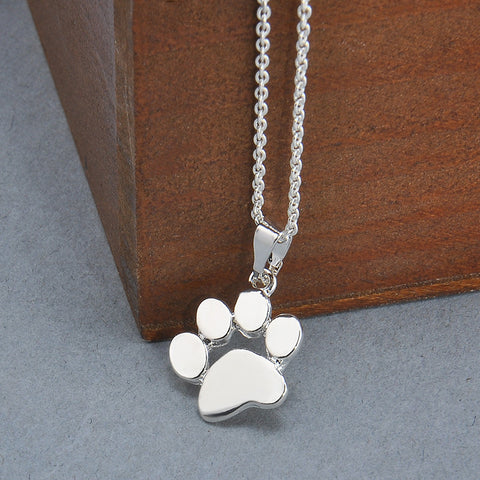 FREE Cute Pets Dogs Footprints Paw Chain Pendant Necklace