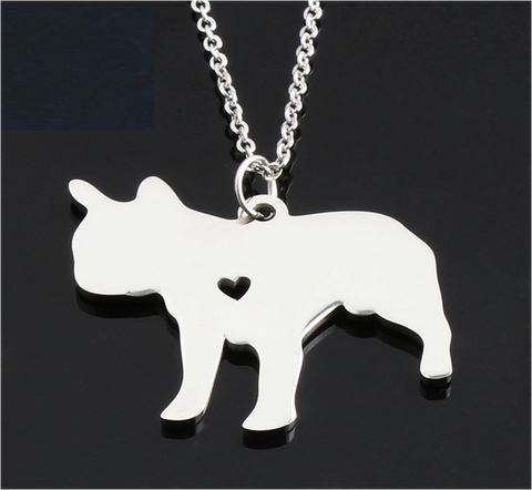 Free French Bulldog Pendant Necklace
