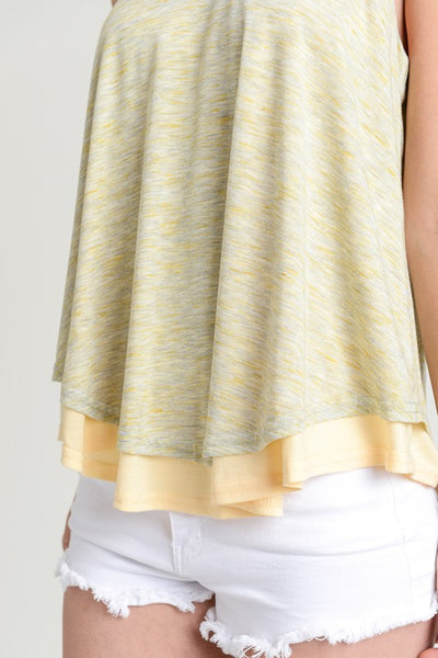 Double Layered Swing Tank Top - Yellow