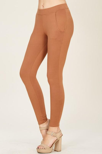 Leggings with Pockets - Camel