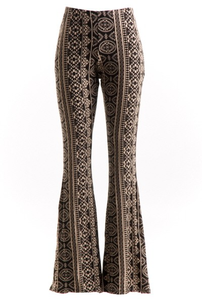 BOHO STYLE PRINTED BELL BOTTOMS