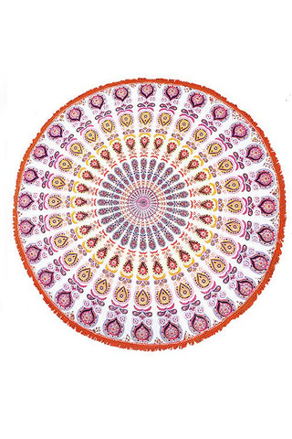 Round Beach Towel - Red