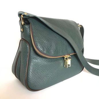 CARISSA - Bottle Green/Dark Brown