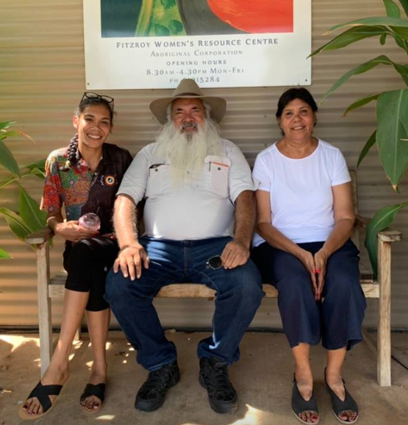 Senator Patrick Dodson Visits Marninwarntikura Women's Resource Centre