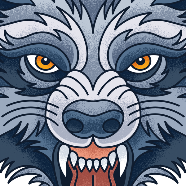Textured Werewolf Illustration