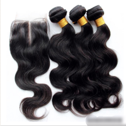 Brazilian 3 Bundle Deal with Lace Closure