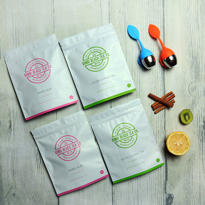 The Bondi B-Slim Together Tea 2 X 28 day packs + 2 Tea Infusers-Bondi Beach Tea Co