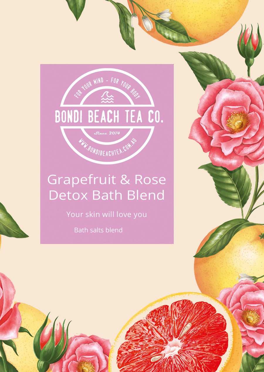 Grapefruit & Rose Detox Bath Salts-Bondi Beach Tea Co