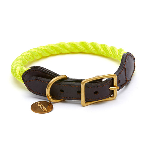 Found My Animal Collar - Neon Yellow