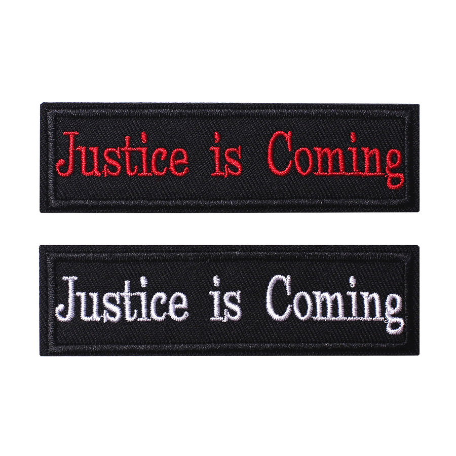 2 Pieces Justice is coming Tactical Patch