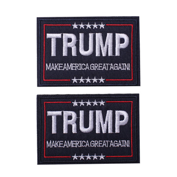 Trump Tactical Morale Patch Make American Great Again, Hook and Loop Patch 2 PCS
