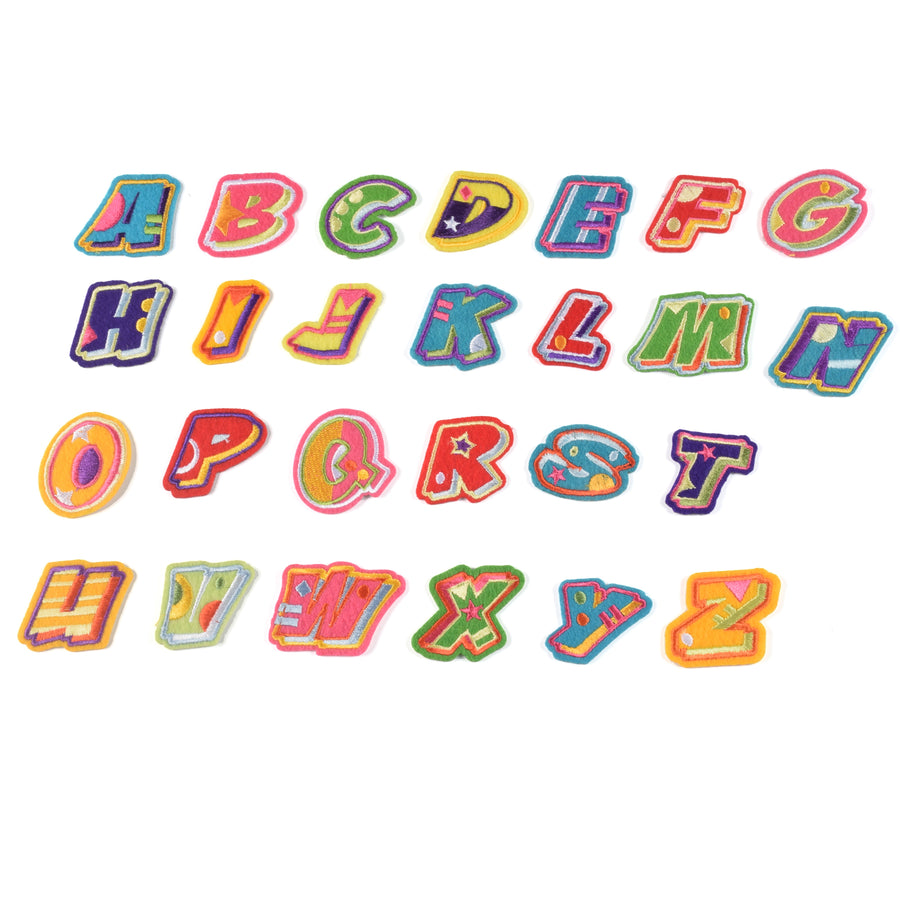 J.CARP Iron on Sew on Letter Patches for Clothes, 26pcs Alphabet A to Z, Fruit