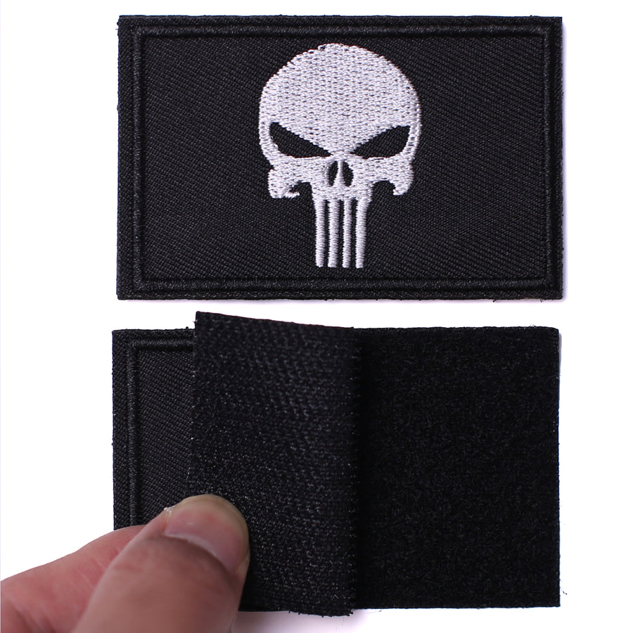 2 Pieces Dead Skull Tactical Patch - Black