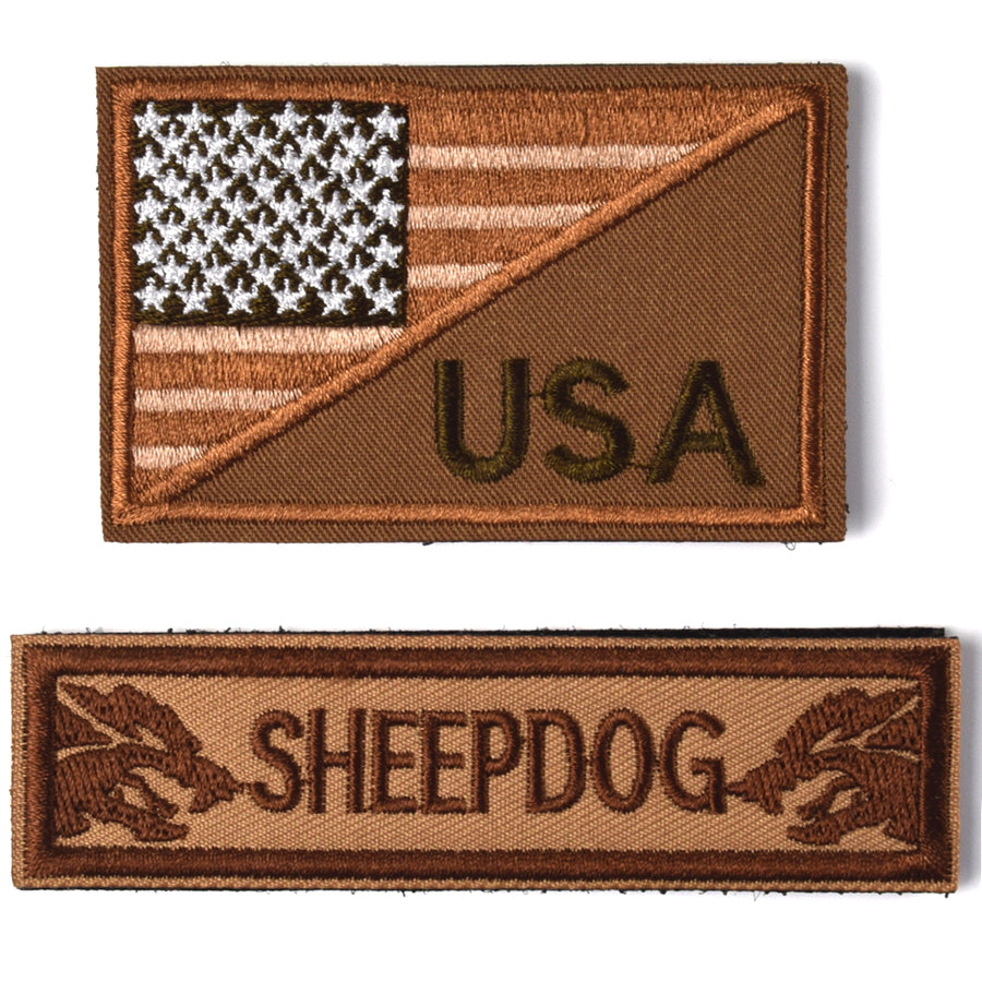 Sheepdog Thin Brown line, Tactical USA Flag Patch