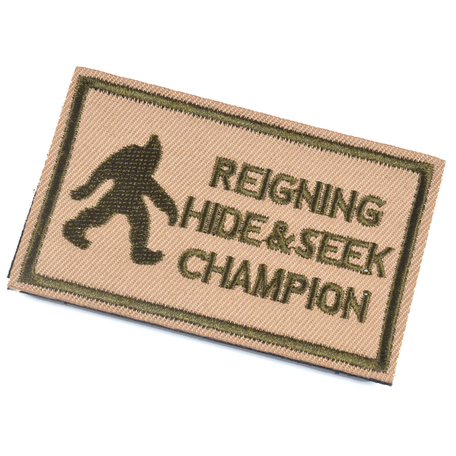REIGNING HIDE & SEEK CHAMPION Patch, Coyote