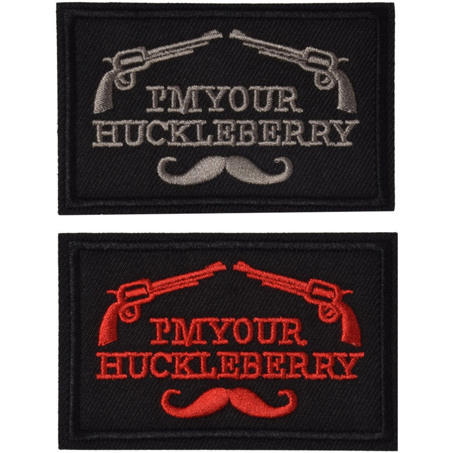 I'm Your Huckleberry Funny Tactical Military Morale Patch Hook & Loop Tactical Patch