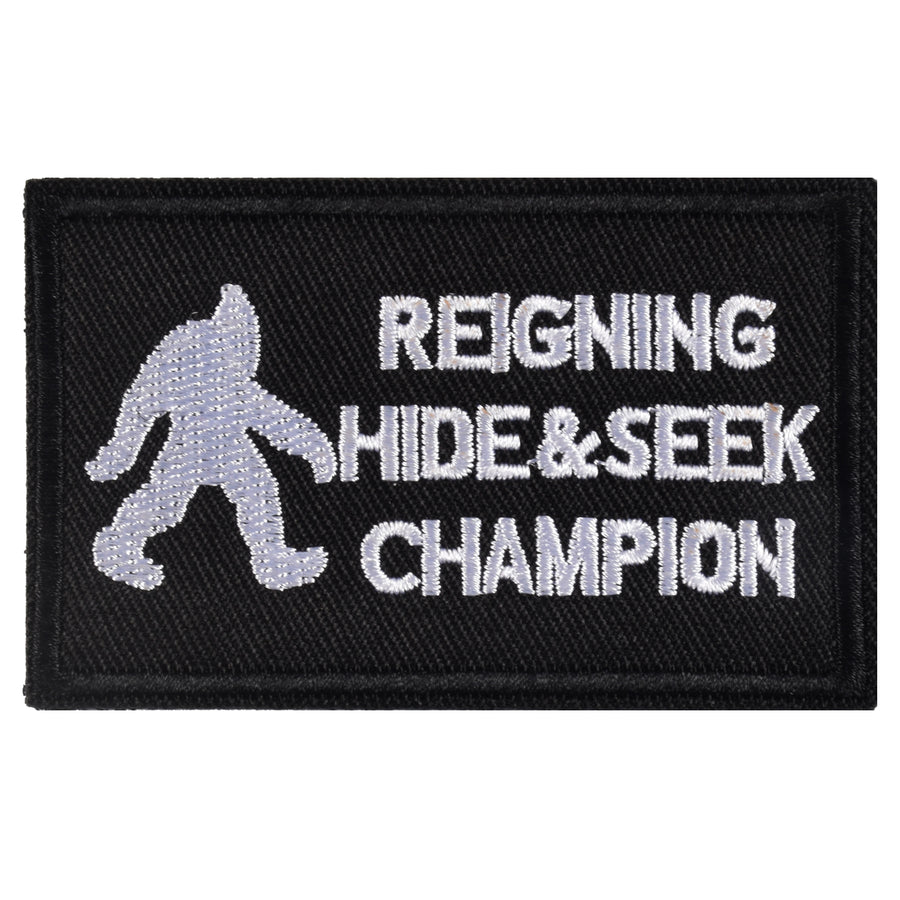 REIGNING HIDE & SEEK CHAMPION Patch, Black