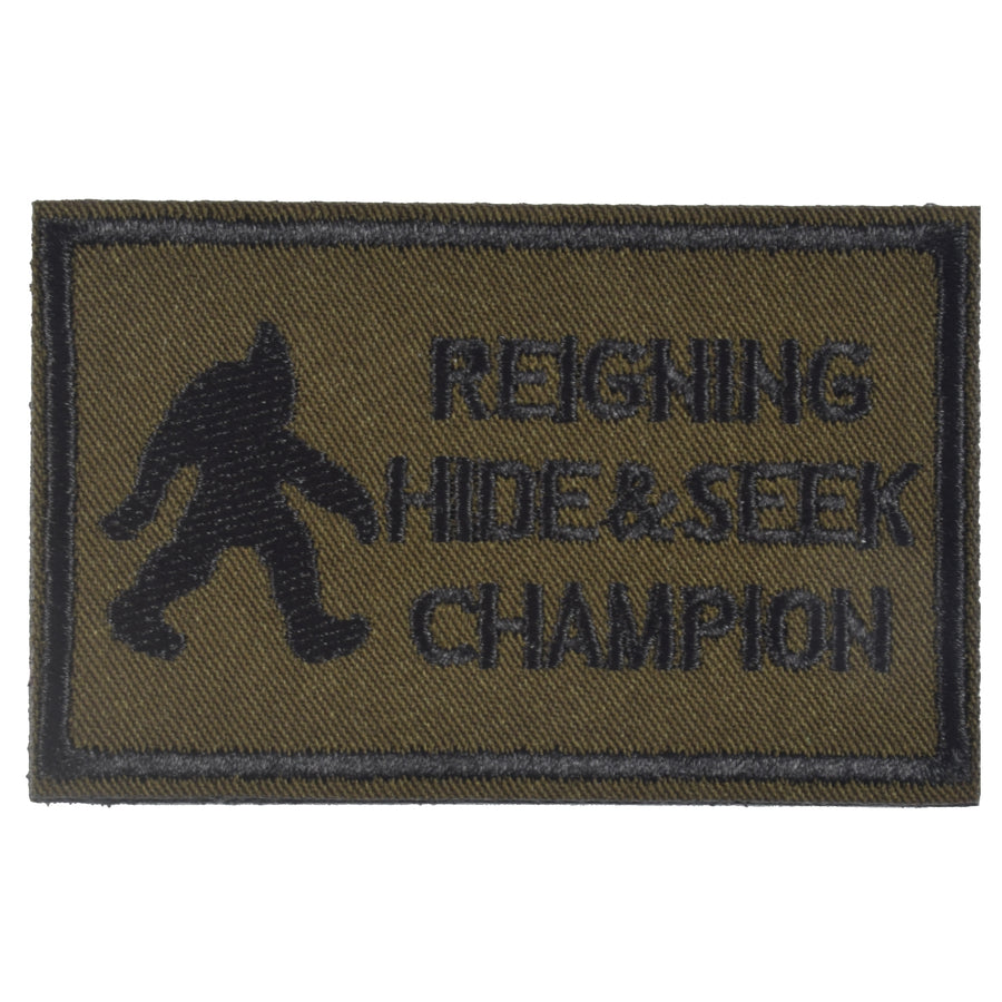 REIGNING HIDE & SEEK CHAMPION Patch, Green