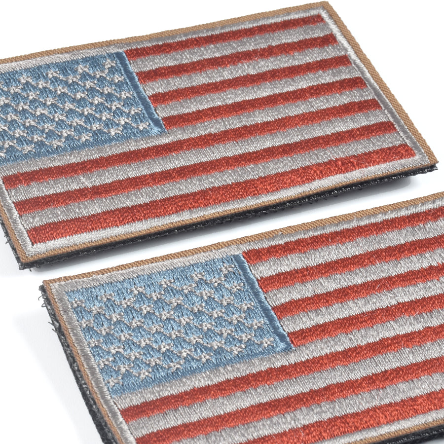 2 Pieces Tactical US American Flag Patch, Military USA United States of America Uniform Emblem Patches, Red & Blue