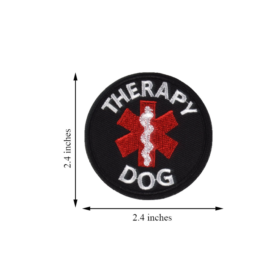 Service Dog EMS Medic Paramedic Star of Life Therapy Dog Vests/Harnesses Emblem Embroidered Fastener Hook & Loop Patch
