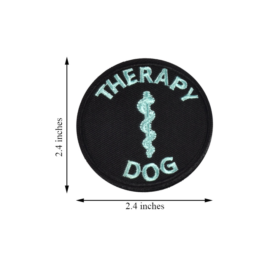 Glow In Dark Service Dog EMS Medic Paramedic Star of Life Therapy Dog Vests/Harnesses Emblem Embroidered Fastener Hook & Loop Patch