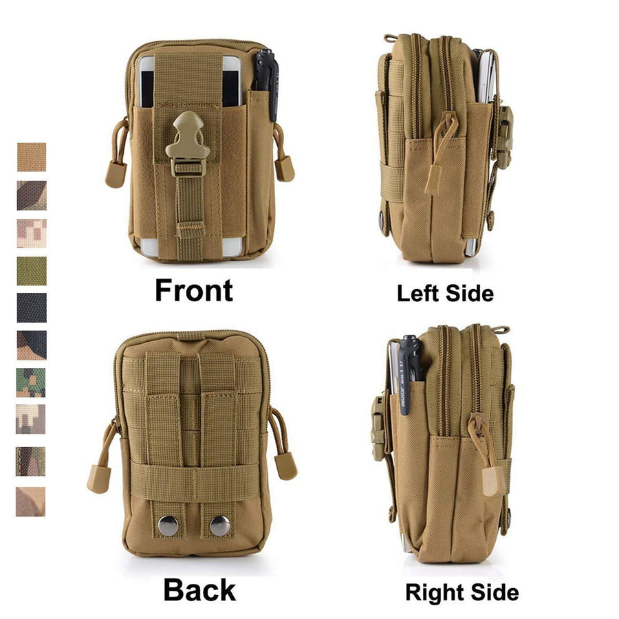 Sample-J. CARP Tactical Molle Pouch Compact EDC Utility Gadget Waist Bag Pack with Cell Phone Holster for iPhone 6 Plus