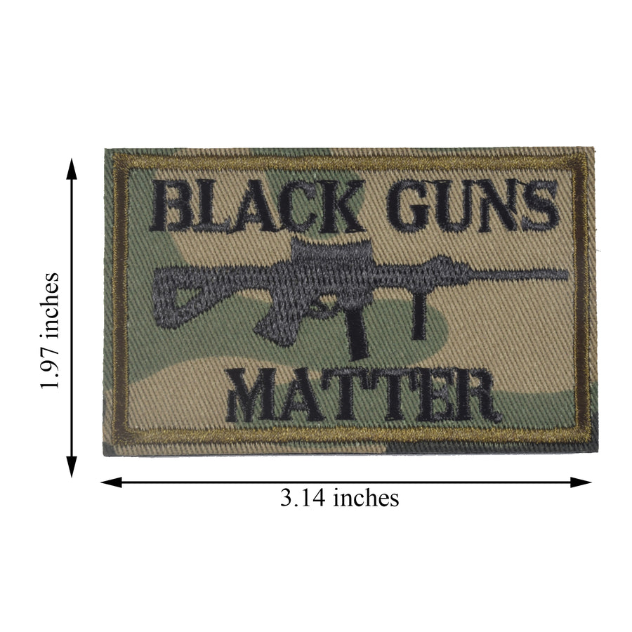 Black Guns Matter - 2x3 Decorative Morale Patch (Multicam with Spice), Green