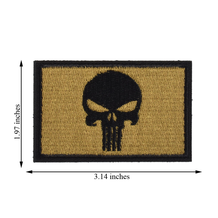 2 Pieces Dead Skull Tactical Patch - Foliage