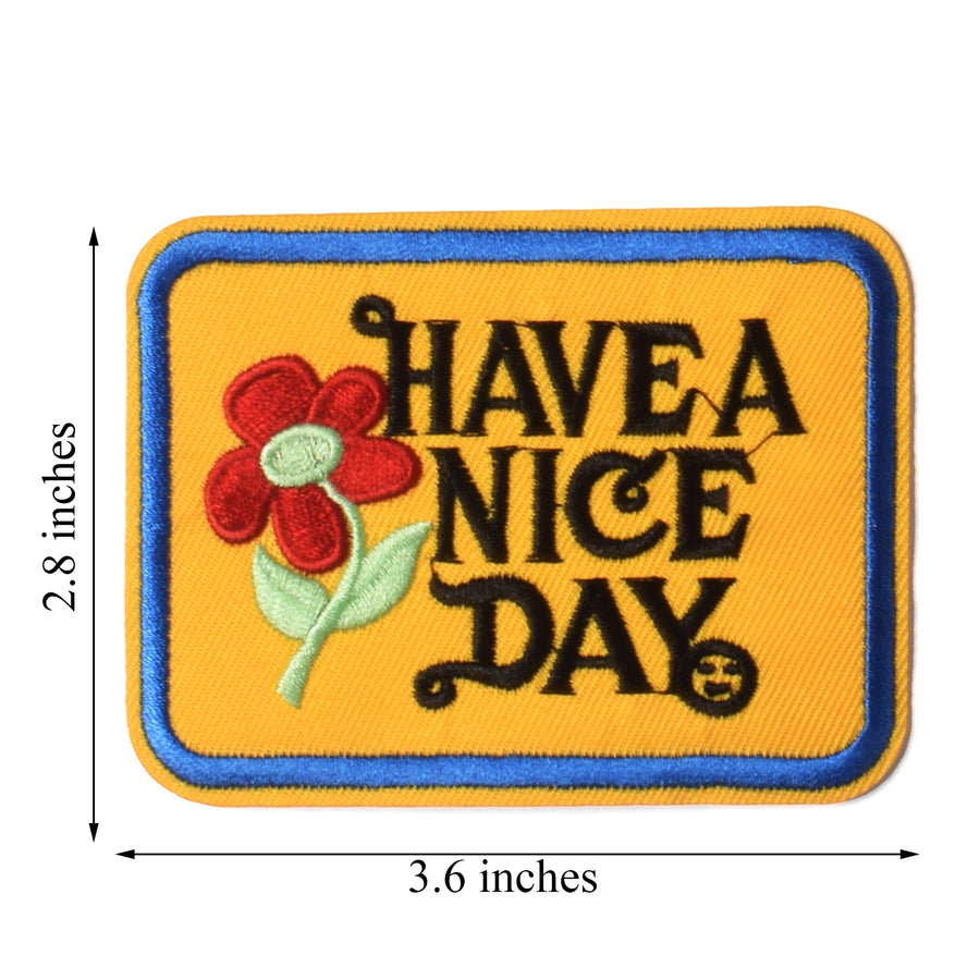 J.CARP Have a Nice Day Patches, Size 2.8 by 3.5 inch, 10PCS