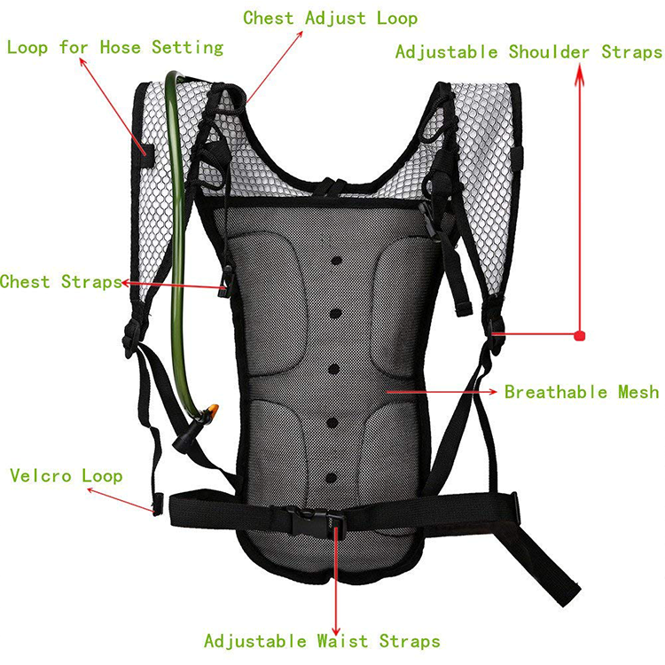 Durable water backpack hydration system DHP-006