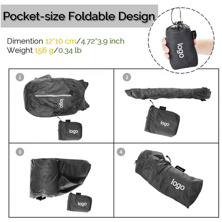Foldable ultralight day hike backpack bag DHP-030