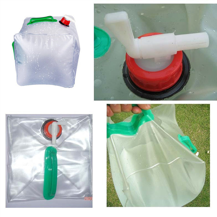 Hot sell 20L hanging plastic pouches collapsible water bag