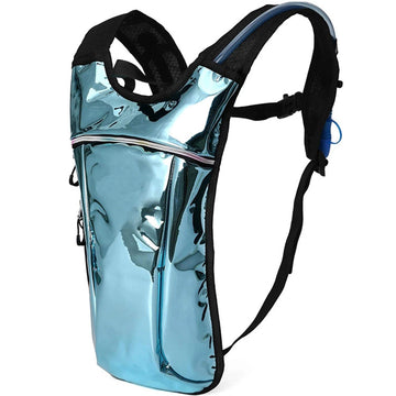 2 liter rave holographic hydration pack for hiking running biking festival party hydration backpack