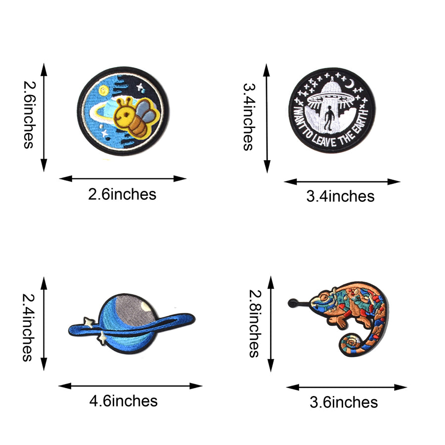 J.CARP Embroidered Iron on Patches, Cute Sewing Applique for Jackets, Hats, Backpacks, Jeans, DIY Accessories, (42pcs)