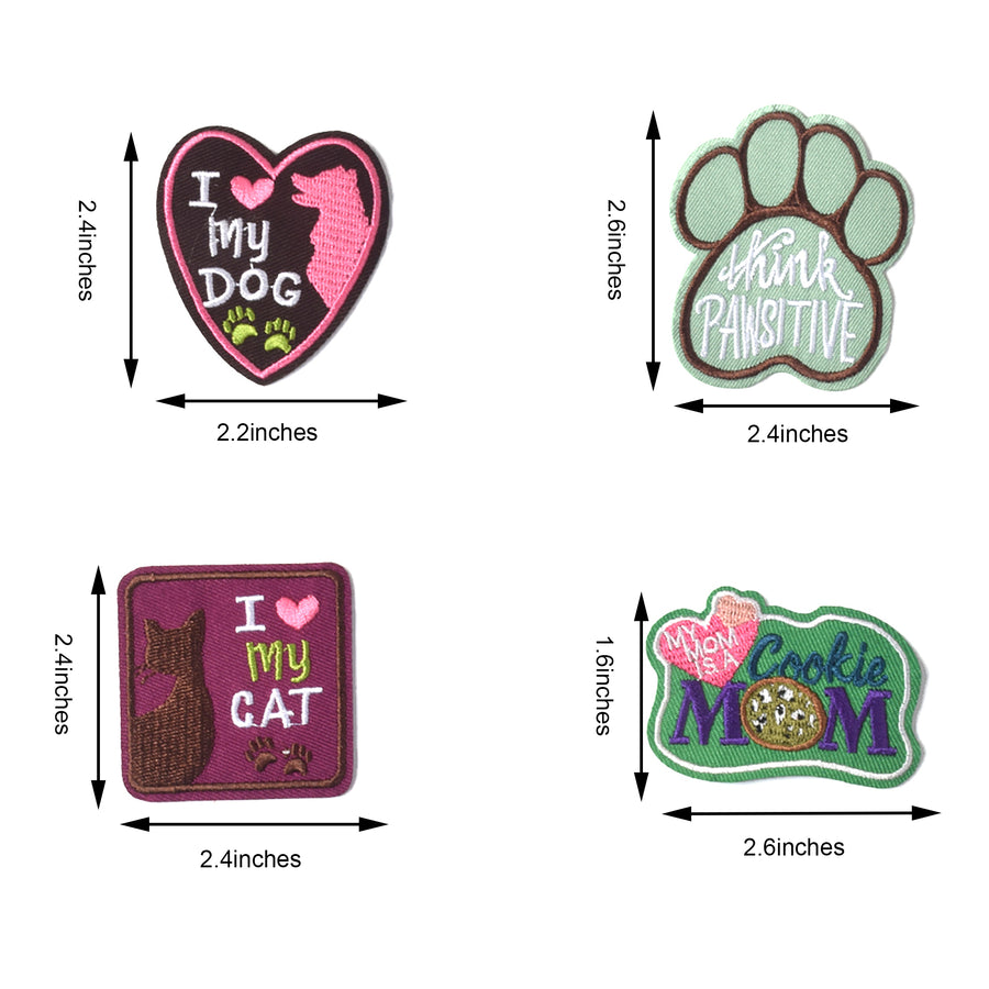 J.CARP Embroidered Iron on Patches, Cute Sewing Applique for Clothes Dress, Style Cute Pets