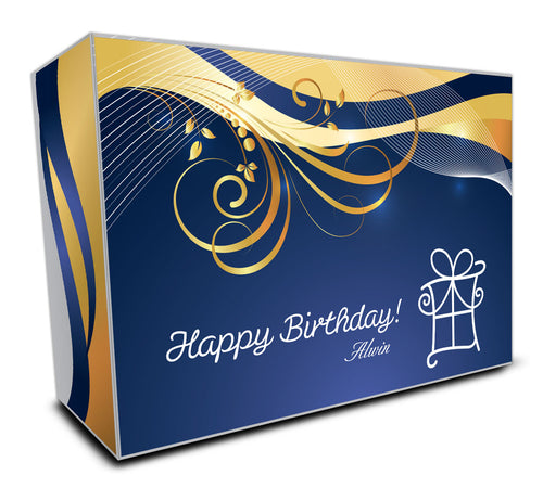 Customisable Golf Ball Packaging Box #6 - Happy Birthday