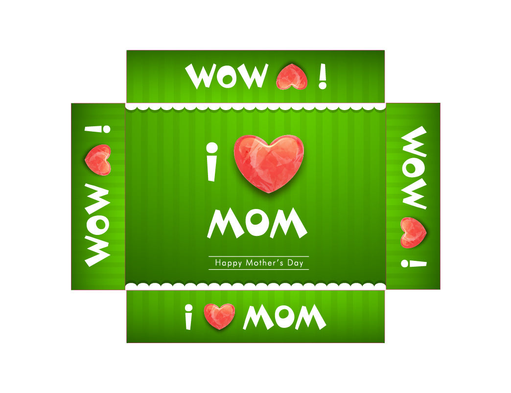 Customisable Golf Ball Packaging Box #2 - I ♡ Mom