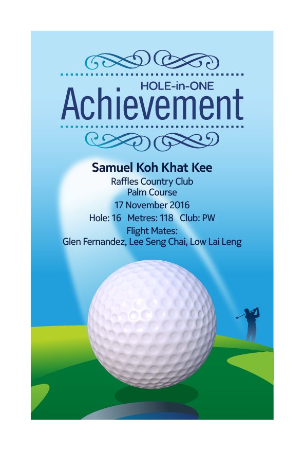 Design 6 - Customisable Acrylic Hole-In-One Plaque