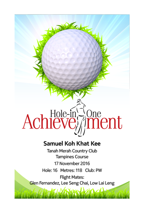 Design 9 - Customisable Acrylic Hole-In-One Plaque