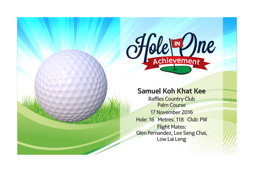 Design 12 - Customisable Acrylic Hole-In-One Plaque