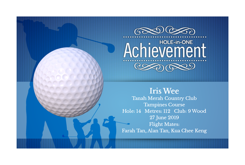 Design 13 - Customisable Acrylic Hole-In-One Plaque