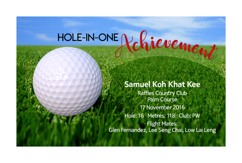 Design 15 - Customisable Acrylic Hole-In-One Plaque