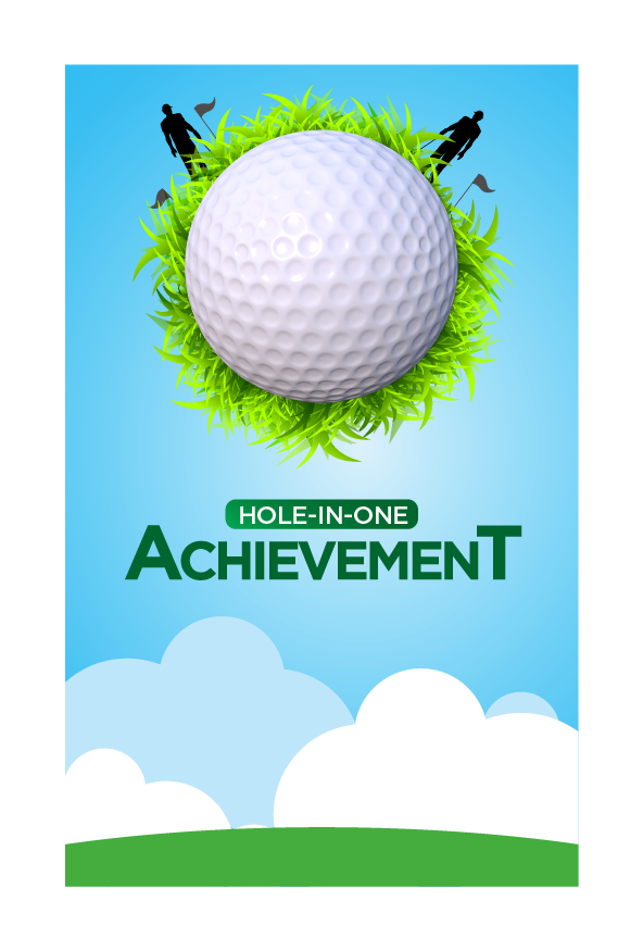 Design 3 - Customisable Acrylic Hole-In-One Plaque