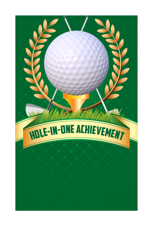 Design 4 - Customisable Acrylic Hole-In-One Plaque