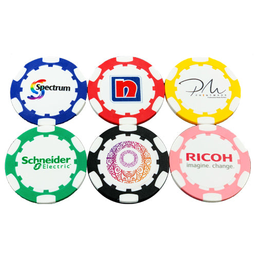 Customisable Poker Chip Golf Ball Marker