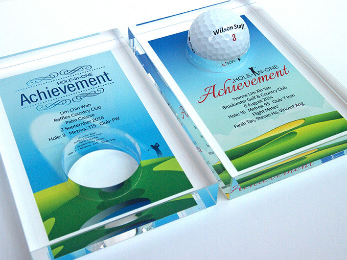 Design 1 - Customisable Acrylic Hole-In-One Plaque