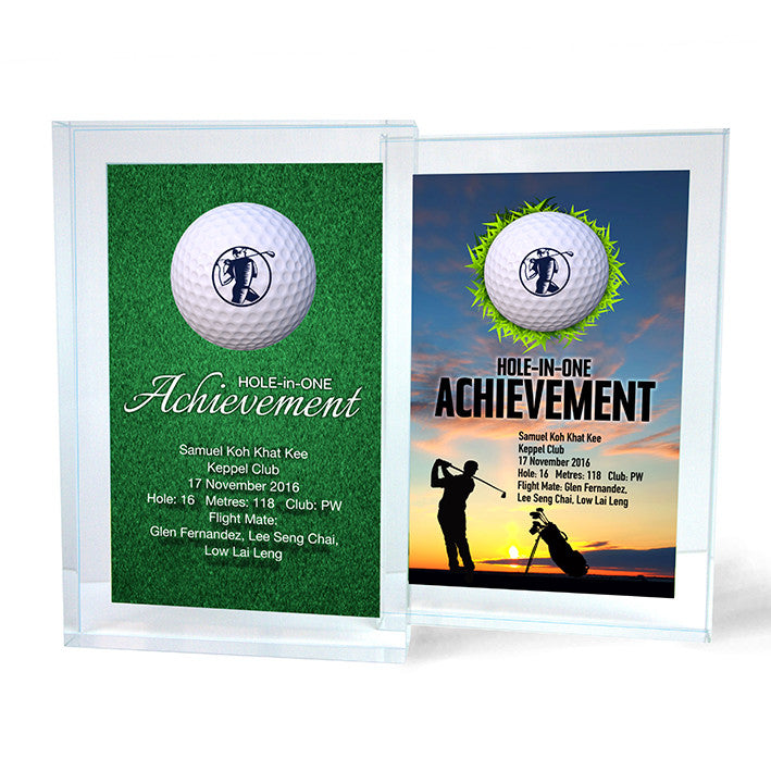 Design 8 - Customisable Acrylic Hole-In-One Plaque