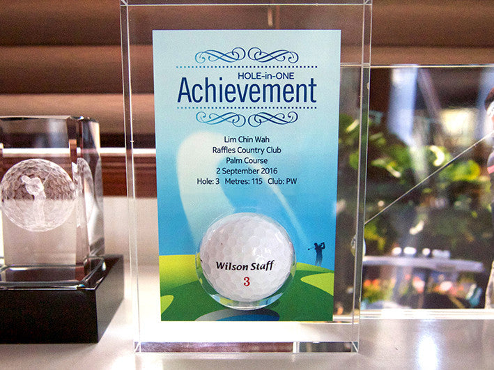 Design 7 - Customisable Acrylic Hole-In-One Plaque